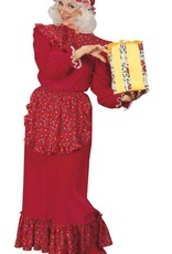 Ruffled Mrs. Claus Dress - Large