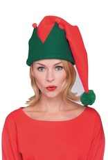 Red and Green Long Elf Hat