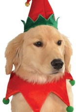 Dog Elf Hat with Bell and Collar - S/M