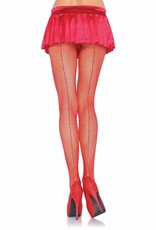 Fishnet Pantyhose with Backseam - Red