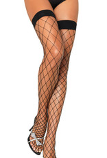 Fence Net Thigh Highs - Purple
