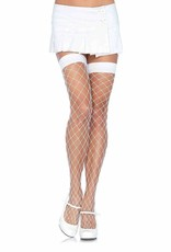 Fence Net Thigh Highs - White