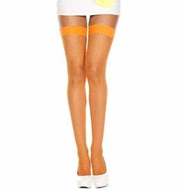 Fishnet Thigh High - Orange