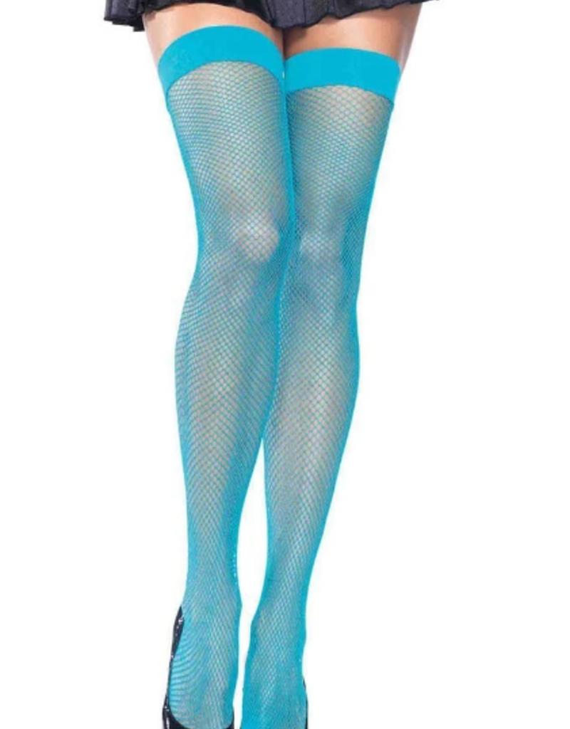 Fishnet Thigh High - Dark Blue