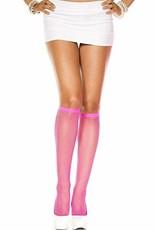 Fishnet Knee High - Pink
