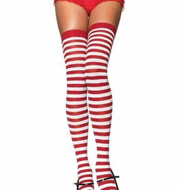 Striped Thigh High - Red/White