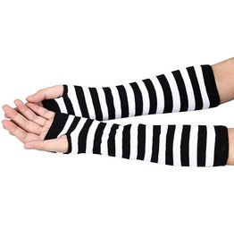 Striped Arm Warmers - Black/White
