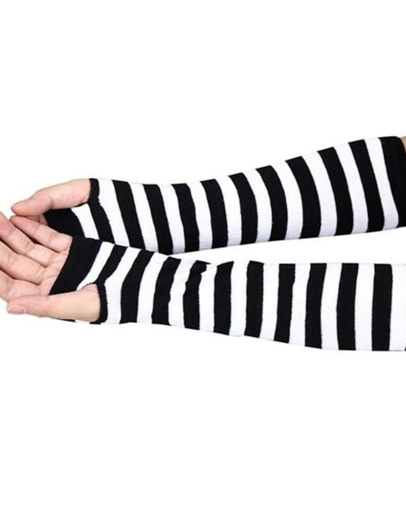 Striped Arm Warmers - Black/White