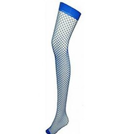 Fishnet Thigh High - Light Blue