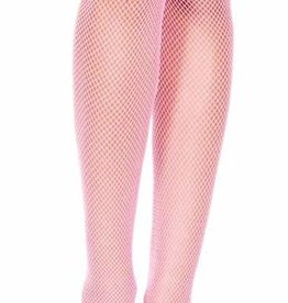 Nylon Fishnet Pantyhose - Light Pink