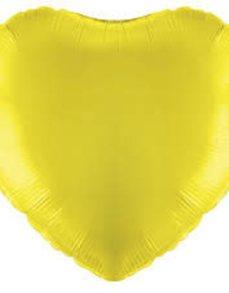 "Qualatex 18"" Yellow Heart"