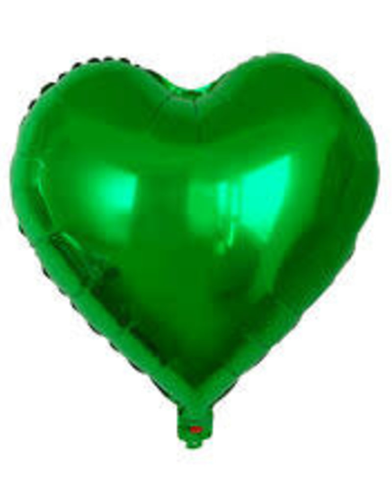 "Qualatex 18"" Green Heart"