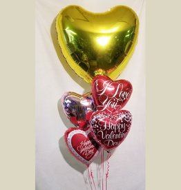 Valentines Bouquet with Heart-Includes Delivery