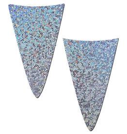 Strapless Bikini Merkins: Glitter Silver Micro