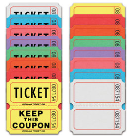 COUPON ROLL TICKETS 2000 Double - YELLOW