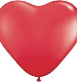 "Qualatex 15"" Red Heart 50ct"