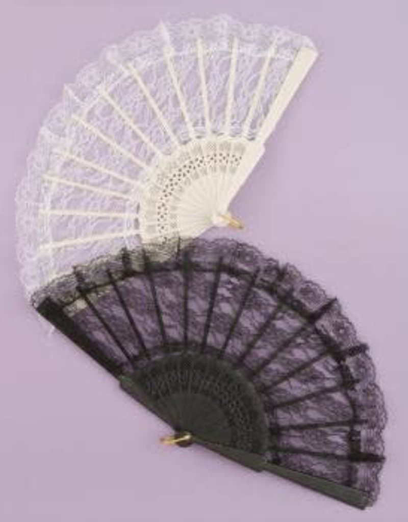 Lace Fan - Black