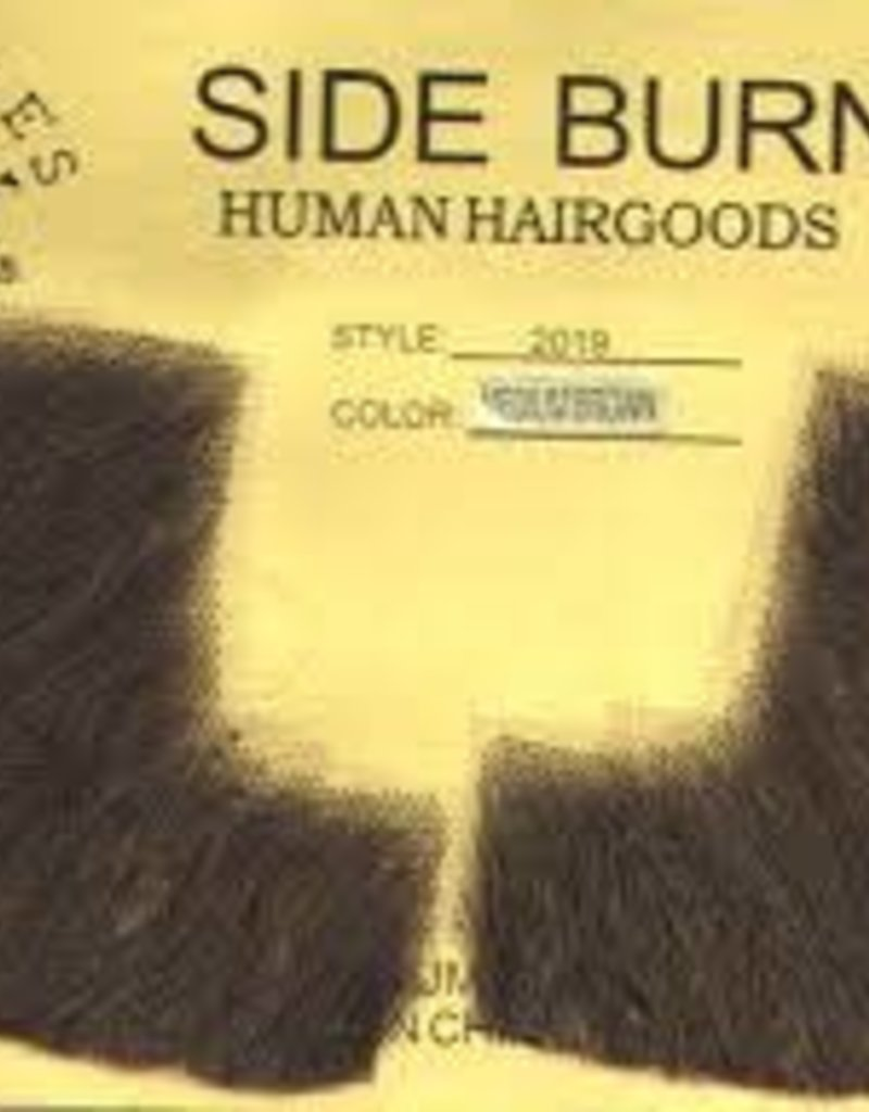 Rubies Costumes Human Hair Sideburns - Light Brown