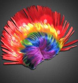 LED Rainbow Wig