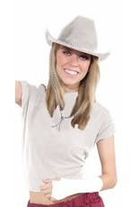 Deluxe Cowboy Hat - White