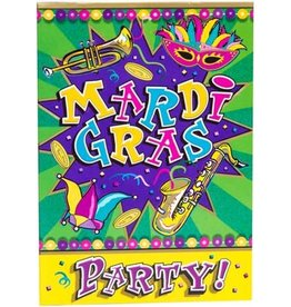 MARDI GRAS INVITATIONS 8PK