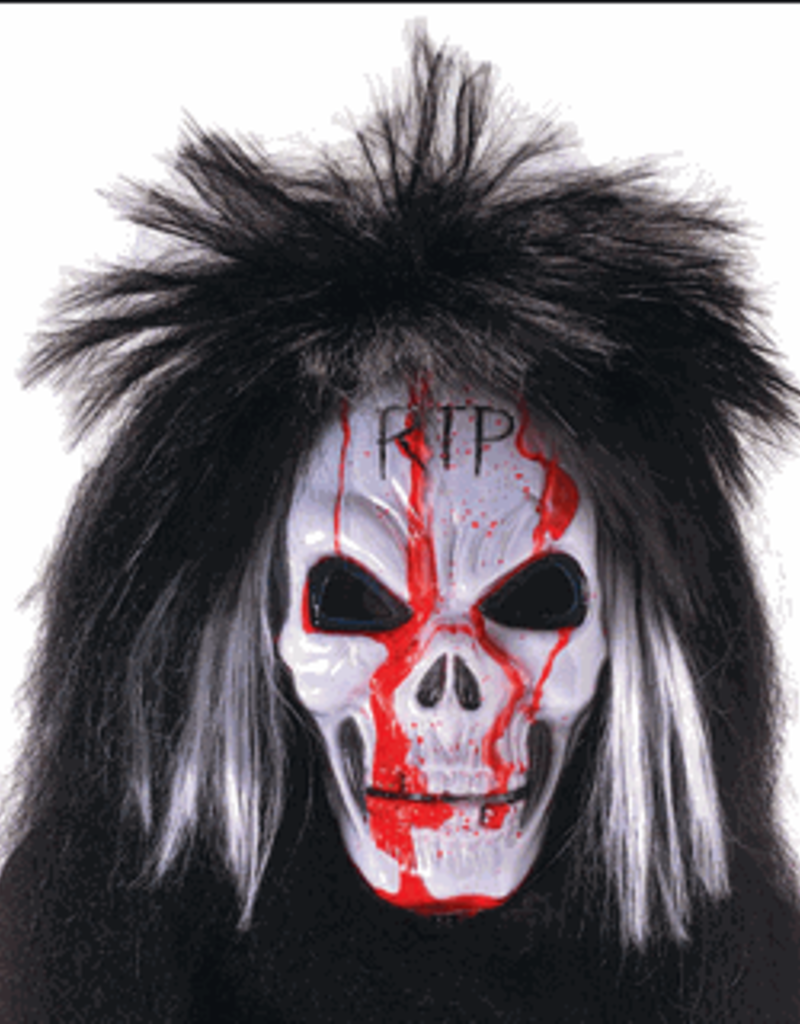 Blood Gushing Skull Mask with Wig