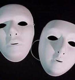 Plain White Mask - Male Paintable