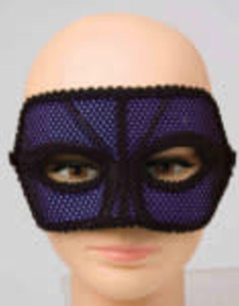 80's Neon Purple Fishnet Mask