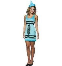 RASTA IMPOSTA CRAYOLA GLITZ & GLITTER BLUE DRESS - Small/Medium -