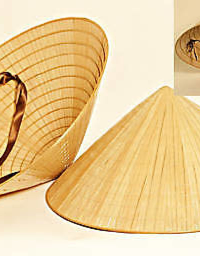 CHINESE BAMBOO POINTED HAT