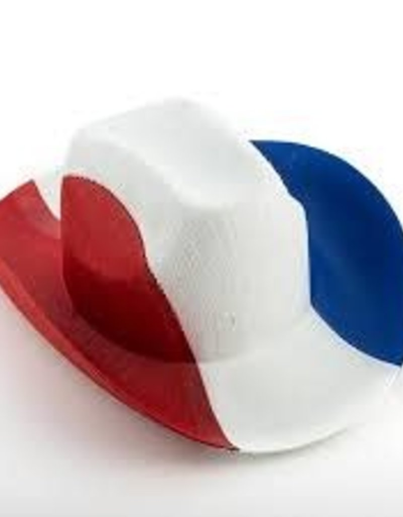 FRENCH FLAG COWBOY HAT