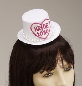 BRIDE TO BE MINI HAT HAIR CLIP