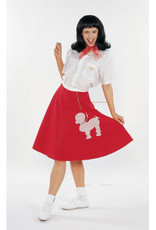 ADULT POODLE SKIRT - RED