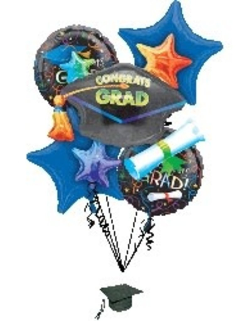 GRAD CELEBRATION BOUQUET(helium filled)