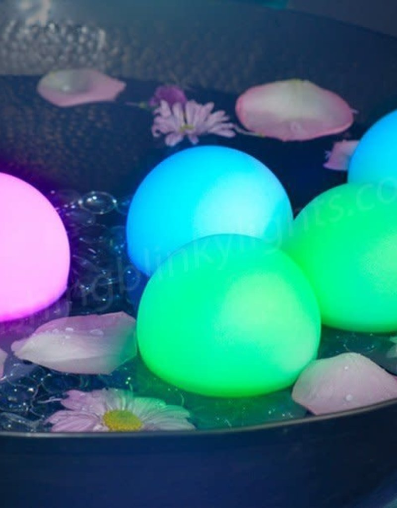"3"" LIGHT UP FLOATING DECO BALLS W/ REMOVABLE STAKES"