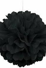 "BLACK PUFF DECOR 16"""