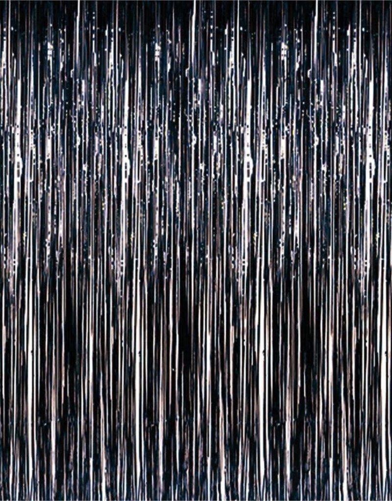 8'X3' 1 Ply Metallic Curtain Black 1/PK