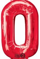 "Qualatex 34"" Number Zero - Red"