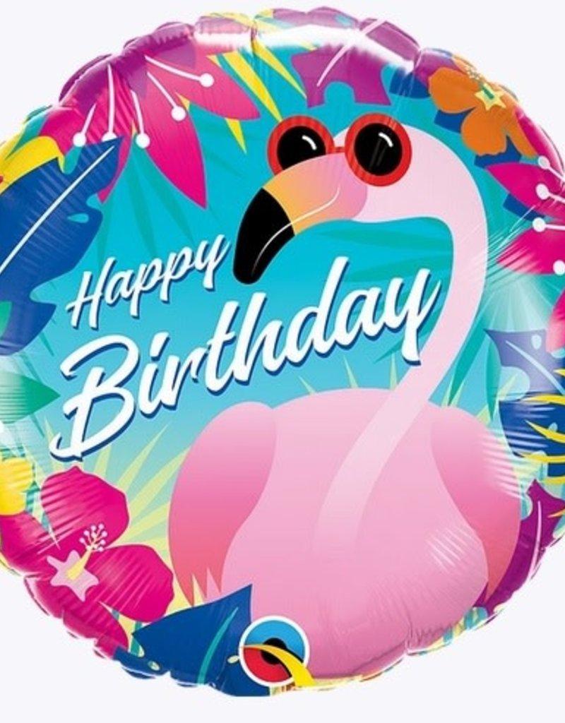 "Qualatex 18"" Birthday Tropical Flamingo"