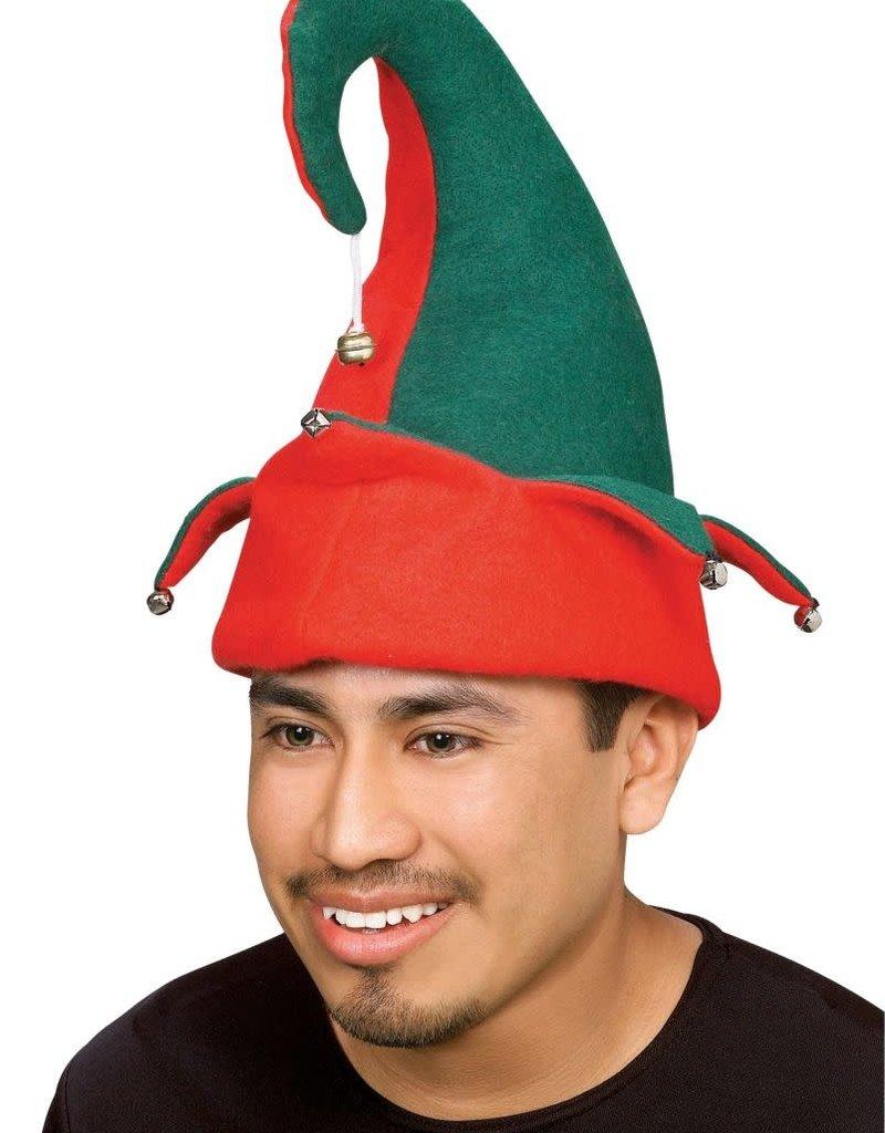 Felt Elf Hat with Bells