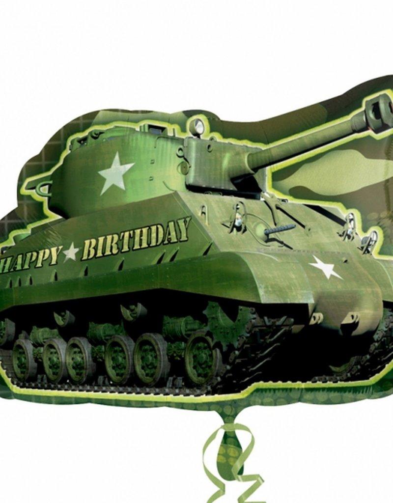 "26"" Army Tank Birthday Foil"
