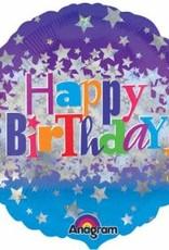"18"" Holographic Birthday Stars"