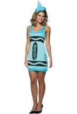 RASTA IMPOSTA Blue Crayon Party Dress - S/M