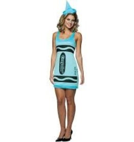 RASTA IMPOSTA Blue Crayon Party Dress - S/M