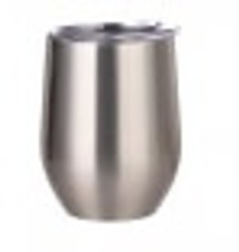 12oz Stainless Steel Wine Tumbler - Silver