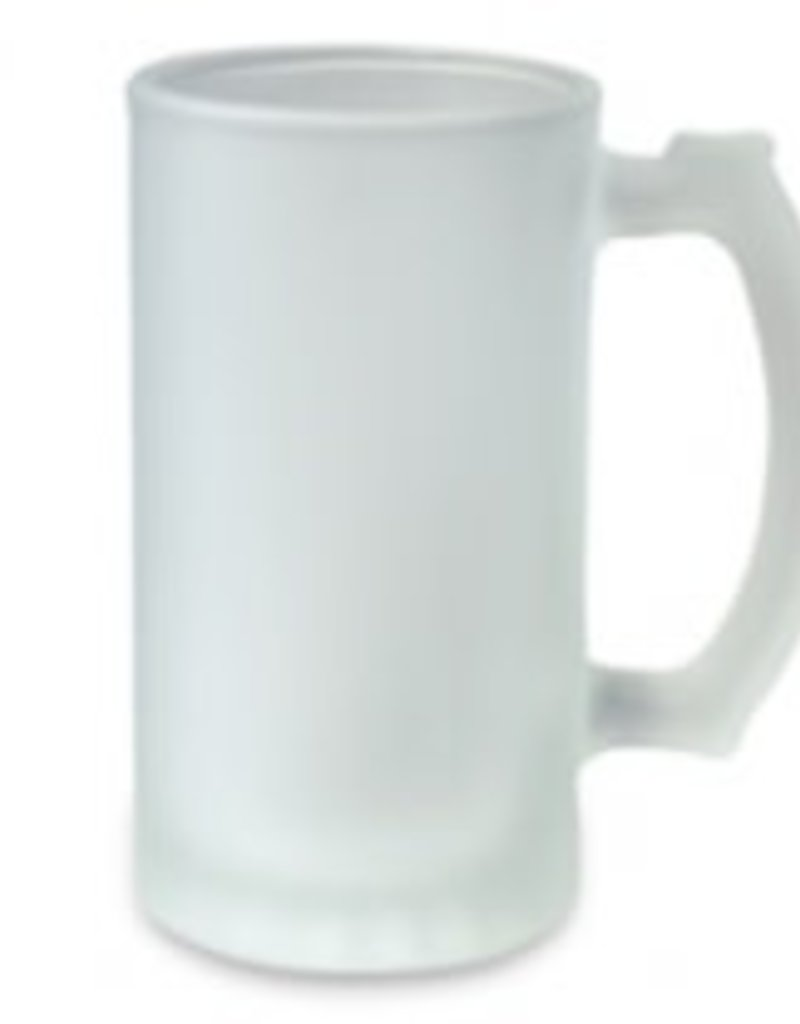 16oz Frosted Glass Stein