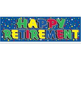 5' Happy Retirement Banner