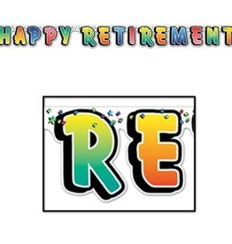 5' Happy Retirement Streamer