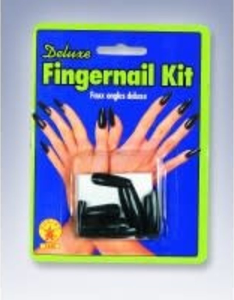 DELUXE FINGERNAIL KIT-BLACK