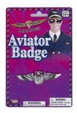 Aviator Badge - Silver